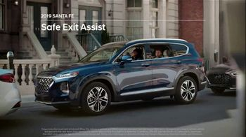 2019 Hyundai Santa Fe TV Spot, 'Safe Exit Assist' [T2] - 108 commercial airings