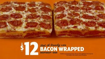 Little Caesars Bacon Wrapped DEEP!DEEP! Dish Pizza TV Spot, 'Daym Drops: Oh Baby!' Featuring Daymon Patterson - Thumbnail 7