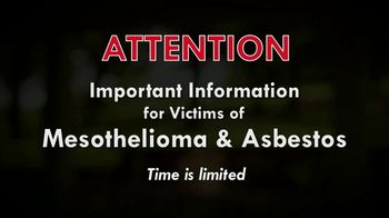 Baron & Budd, P.C. TV Spot, 'Mesothelioma & Asbestos Victims'