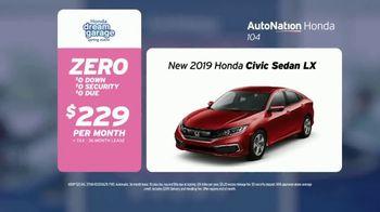 AutoNation Super Zero Event TV Spot, '2019 Honda Civic Sedan' Song by Bonnie Tyler - Thumbnail 4