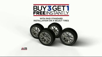 Tire Kingdom TV Spot, 'Buy Three Get One'