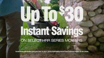Honda Mower Sale-abration TV Spot, '$30 Instant Savings' - Thumbnail 4