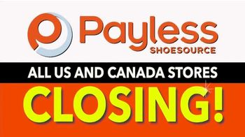Payless Shoe Source Liquidation Savings TV Spot, 'All Stores Closing'