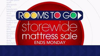 Rooms to Go Storewide Mattress Sale TV Spot, 'Ends Monday: Adjustable Base & Mattress' - Thumbnail 2