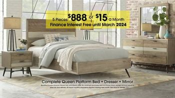 Rooms to Go Anniversary Sale TV Spot, 'Five Piece Bedroom Set' - Thumbnail 5