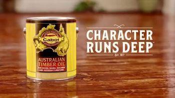 Cabot Wood Stains Australian Timber Oil TV Spot, 'The Only Piece of Art a Bratwurst Ever Landed On' - Thumbnail 8