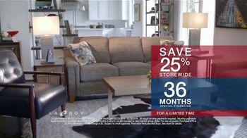 La-Z-Boy Presidents Day Sale TV Spot, 'Held Over: Save 25 Percent' - Thumbnail 5