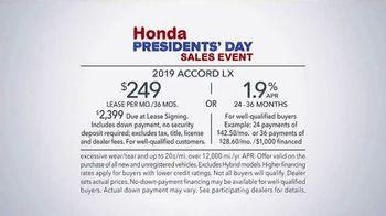 Honda Presidents Day Sales Event TV Spot, 'Life's Best Adventures' [T2] - Thumbnail 6