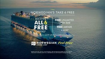 Norwegian Cruise Line Super Bowl 2019 TV Spot, 'Good to Be Free: Six Offers' Song by Andy Grammer - Thumbnail 9