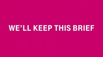 T-Mobile Unlimited Super Bowl 2019 TV Spot, 'We'll Keep This Brief' Song by Walter Murphy - Thumbnail 7