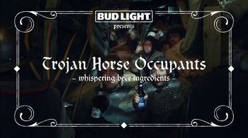 Bud Light Super Bowl 2019 TV Spot, 'Trojan Horse Occupants' - Thumbnail 1