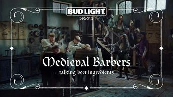 Bud Light Super Bowl 2019 TV Spot, 'Medieval Barbers' - Thumbnail 1