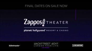 Backstreet Boys Larger than Life Las Vegas Residency TV Spot, 'Zappos! Theater' - Thumbnail 3