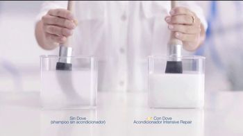 Dove Intensive Repair Conditioner TV Spot, 'Prueba de color' [Spanish]