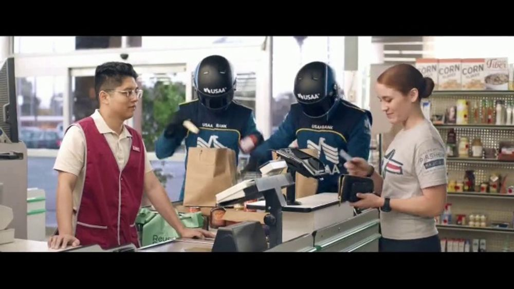 USAA Bank TV Commercial,' Grocery Store'