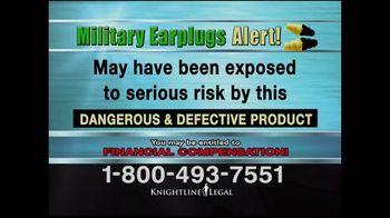 Knightline Legal TV Spot, 'Military Earplugs Alert' - Thumbnail 5
