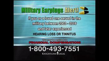 Knightline Legal TV Spot, 'Military Earplugs Alert' - Thumbnail 6