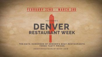 Visit Denver TV Spot, '2019 Restaurant Week' - Thumbnail 10