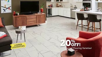 Lumber Liquidators Waterproof Flooring TV Spot, 'Worry-Proof: 20 Percent Off' - Thumbnail 10