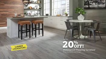 Lumber Liquidators Waterproof Flooring TV Spot, 'Worry-Proof: 20 Percent Off' - Thumbnail 9