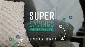Ashley HomeStore Super After Hours Event TV Spot, 'Sunday Only' - Thumbnail 9
