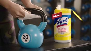 Lysol Disinfecting Wipes TV Spot, 'Crazy Strong' - Thumbnail 3