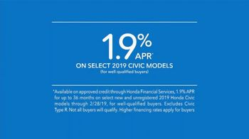 2019 Honda Civic TV Spot, 'Legends Live' [T2] - Thumbnail 9