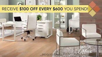 Dania Furniture TV Spot, '$100 Off Every $600' - Thumbnail 5