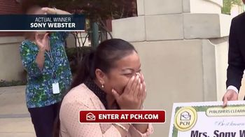 Publishers Clearing House TV Spot, 'Actual Winner:Sony Webster' - 192 commercial airings