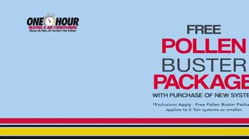 One Hour Heating & Air Conditioning TV Spot, 'Pollen Buster Package' - Thumbnail 4