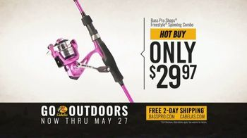 Bass Pro Shops Go Outdoors Event and Sale TV Spot, 'Trilene Fishing Line and Spinning Combo' - Thumbnail 6