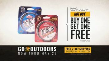 Bass Pro Shops Go Outdoors Event and Sale TV Spot, 'Trilene Fishing Line and Spinning Combo' - Thumbnail 4