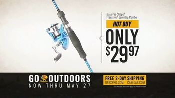 Bass Pro Shops Go Outdoors Event and Sale TV Spot, 'Trilene Fishing Line and Spinning Combo' - Thumbnail 5