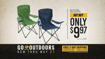 Bass Pro Shops Go Outdoors Event and Sale TV Spot, 'Camp Chair and Grill' - Thumbnail 8