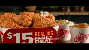 Church's Chicken Restaurants $15 Real Big Family Deal TV Spot, 'Un plato para llevar' [Spanish] - Thumbnail 8