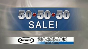 Jacuzzi 50 50 50 Sale TV Spot, 'Outdated Shower or Bath' - Thumbnail 6