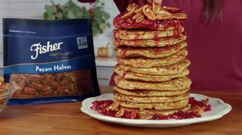 Fisher Pecan Halves TV Spot, 'Food Network: Cranberry Orange Pancakes' Featuring Alex Guarnaschelli - Thumbnail 3