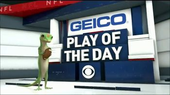 GEICO TV Spot, 'CBS Sports: Play of the Day: 49 Yards of Giant Trickery' - Thumbnail 9
