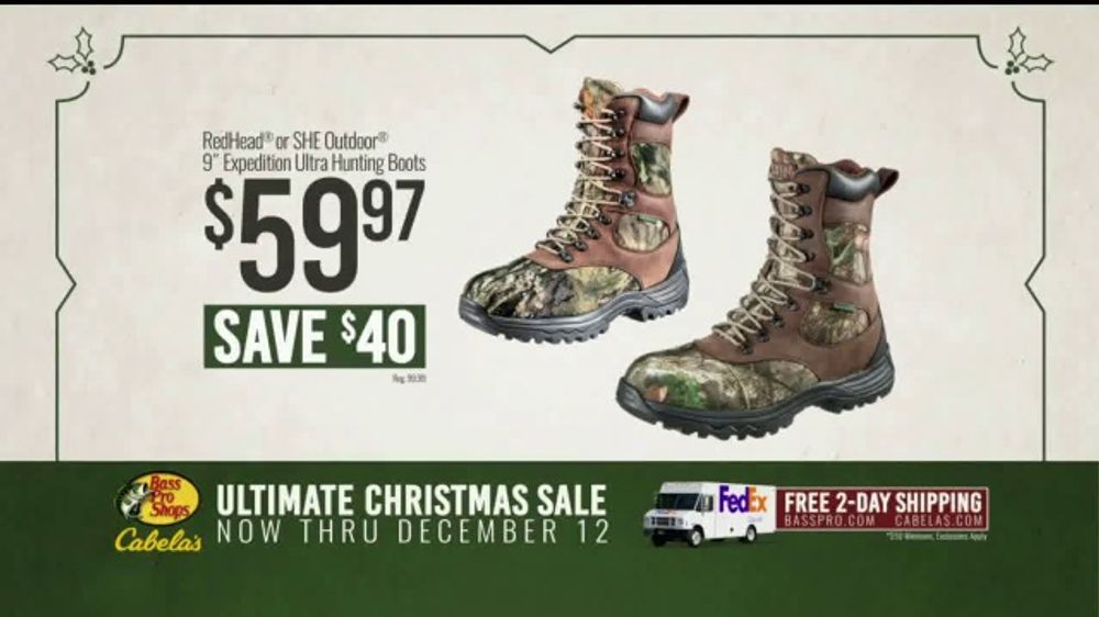 brand new a36fb e7437 Bass Pro Shops Ultimate Christmas Sale TV Commercial, 'Boots and Gift  Cards' - Video