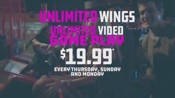 Dave and Buster's Unlimited Video Game Play + Unlimited Wings TV Spot, 'Extended'