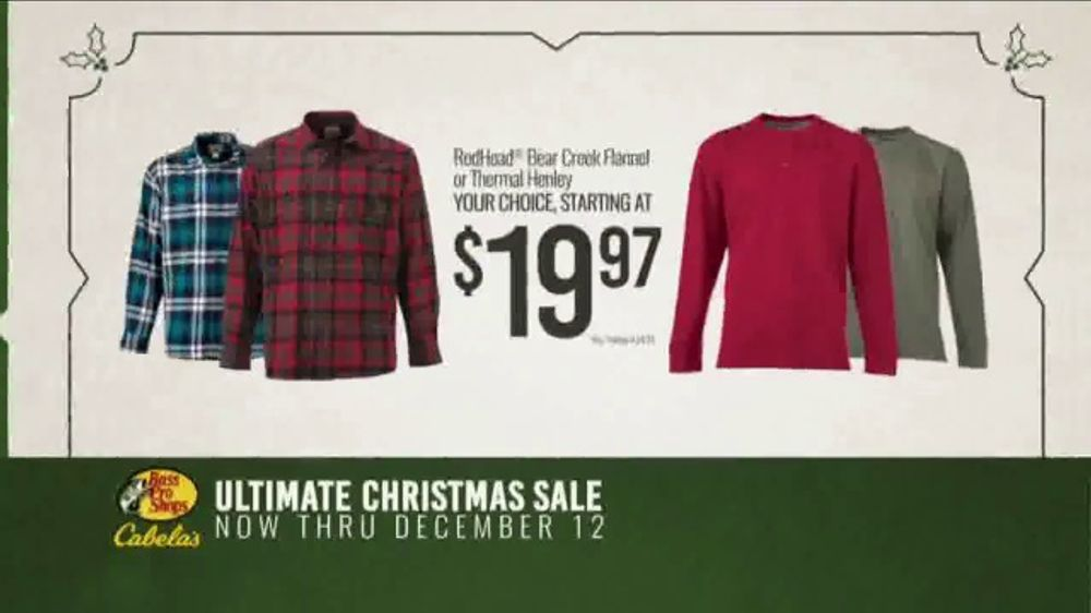 Bass Pro Shops Ultimate Christmas Sale TV Commercial, 'Thermal and Flannel Shirts'