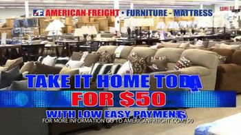 American Freight Holiday Super Savings TV Spot, 'Dinette Sets, Mattress Sets, Bedroom Sets and More' - Thumbnail 2