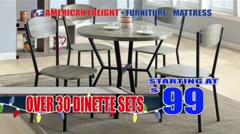 American Freight Holiday Super Savings TV Spot, 'Dinette Sets, Mattress Sets, Bedroom Sets and More' - Thumbnail 3