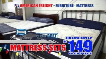 American Freight Holiday Super Savings TV Spot, 'Dinette Sets, Mattress Sets, Bedroom Sets and More' - Thumbnail 5
