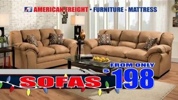 American Freight Holiday Super Savings TV Spot, 'Dinette Sets, Mattress Sets, Bedroom Sets and More' - Thumbnail 7