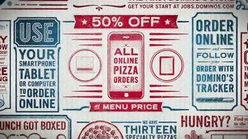 Domino's TV Spot, 'Pizza Combinations: 50 Percent Off'