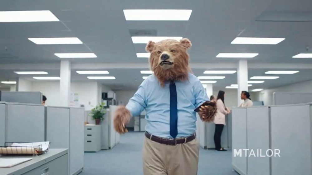 MTailor TV Commercial, 'Business Bear Gets Custom Clothes'