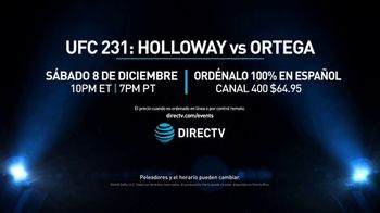 DIRECTV TV Spot, 'UFC 231: Holloway vs. Ortega' [Spanish] - Thumbnail 9
