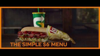 Subway Simple $6 Menu TV Spot, 'Keeping It Simple'