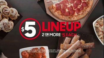 Pizza Hut $5 Lineup TV Spot, \'All the Variety. All for $5 Each.\'